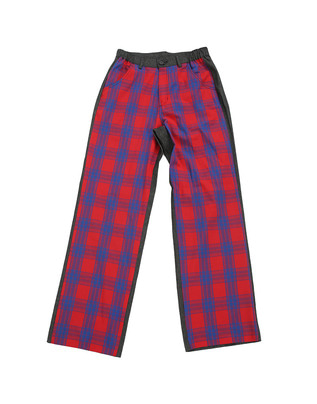 Red patterned pants