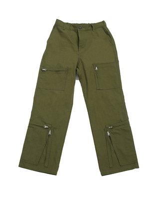 Khaki zipped pants