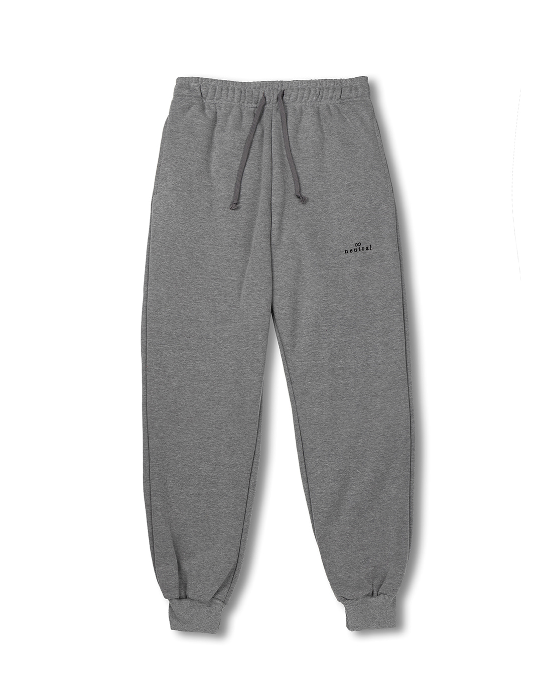 Gray jogger sweatpants