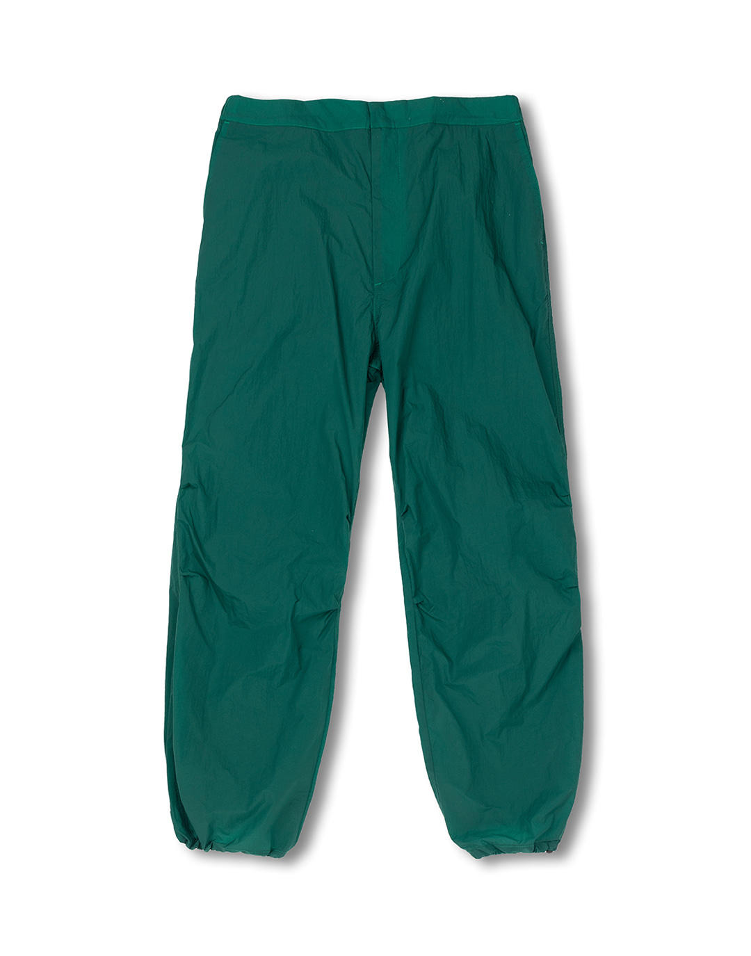 Green nylon pants